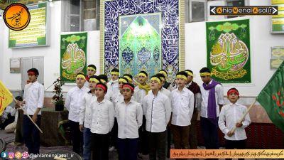 اجرای گروه سرود رهپویان احلی من العسل در مراسم ولادت حضرت زهرا