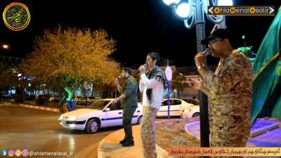 اجرای گروه سرود رهپویان احلی من العسل در مراسم گرامیداشت واقعه صحرای طبس