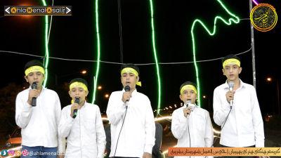اجرای گروه سرود رهپویان احلی من العسل در مراسم شهادت امام جعفر صادق